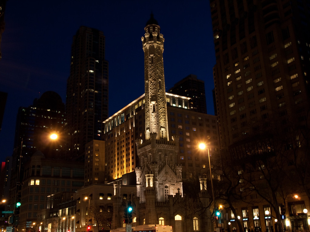 Taken from Michigan Avenue.  Always loved this building, but there are too many people to get a good photo.