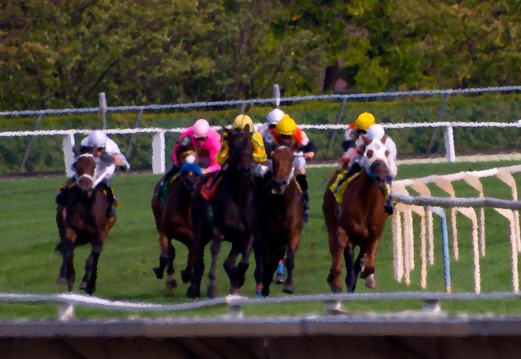 HorseRacePainting