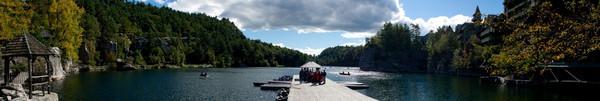 Dock at Lake Mohonk Panoramic