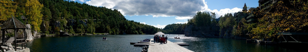 Dock at Lake Mohonk Panoramic