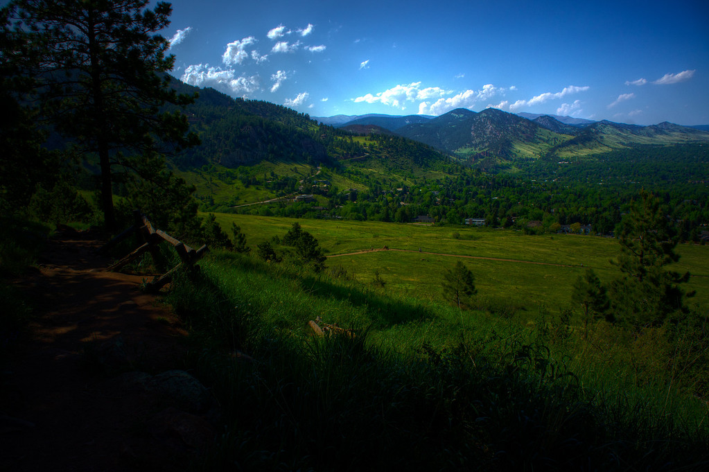 Took this as we finally exited the trees on our hike in Boulder.  Just wanted to lay down here for a while, but we were late for dinner.