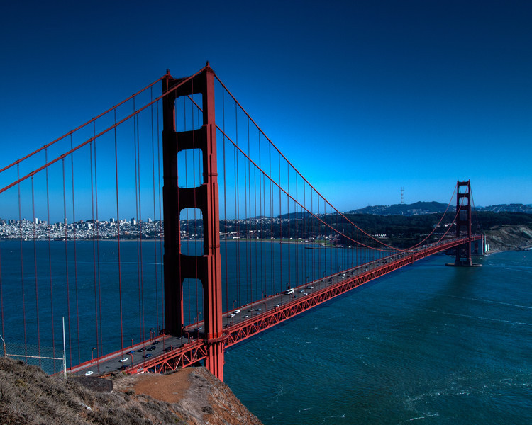 An HDR image of the Golden Gate bridge.