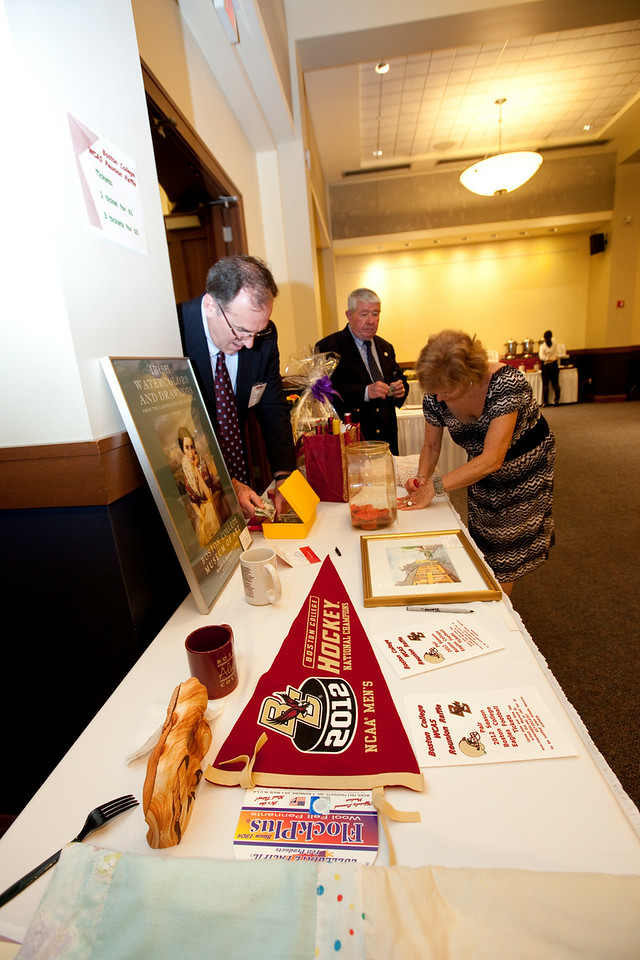 (Chestnut Hill, Massachusetts-- May 31,  2012)-- <br /> Boston College Woods School for Advanced Study celebrated reunion in the Heights Room in Corcoran Common at BC<br /> Photo by Rose Lincoln for Boston College