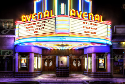 The Avenal Theater, Avenal, CA.  Opened in 1935 and burned down in November of 2003.  It was rebuilt just as it was in 1935 and re-opened in 2010.