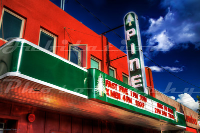 The Pine Theater, Prineville, OR.  Opened in 1938 and closed in 1971.  Restored and opened again in 2007.