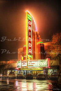 The wonderful looking Orinda Theatre.  One of my personal favorites.  Opened in 1941.  Orinda, CA.