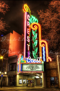 The Crest Theatre, Sacramento, CA.  Built in the shell of the old Hippodrome Theatre in 1948 and opened in 1949.  Still a beautiful gem shining in Sac.