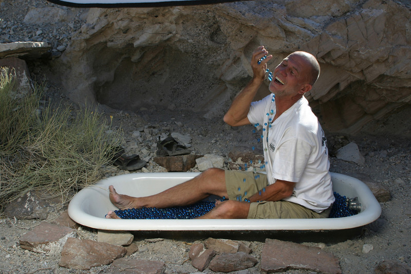 "taking a shower with glass marbles<br /> <br /> <a href=""http://www.4x4abc.com/G-Class/Death.Valley/marble-bath.html"">http://www.4x4abc.com/G-Class/Death.Valley/marble-bath.html</a>"