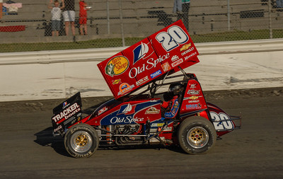 Tony Stewart, Sprint dirt car, August 29, 2007, Kasey Kahne Foundation Race at Skagit Speedway, WA