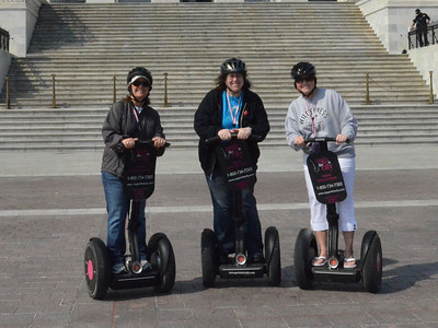 This isn't the best picture ever taken, but it certainly is one of my favorites. Ann, Kathy, and Mindy on the Segway tour of Washington DC. March 2012