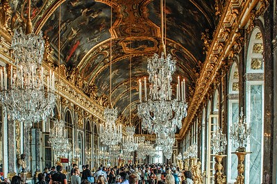 Palace of Versailles, Hall of Mirrors, Paris, France, August 2010