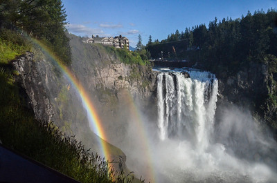 Snoqualmie Falls, Washington, with a double rainbow!! Taken in May 2012.