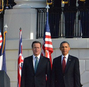 President Obama welcomes David Cameron, Prime Minister of the U.K,, White House Tweetup, March 2012