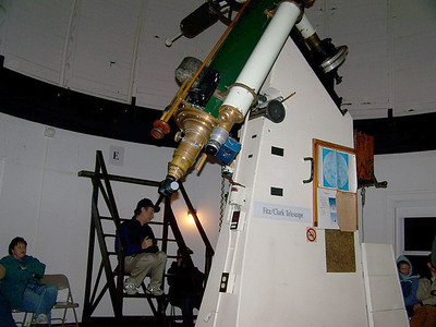 Another image of the Fitz Cark refractor. It is in wonderful shape being delivered to the observatory on November 14, 1861. It will be 150 years old this November. (2011.)