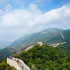 The Great Wall of China<br /> Mutianyu section.<br /> The 2 mile long section of the wall dates from the Ming dynasty and is characterized by its 26 watchtowers.