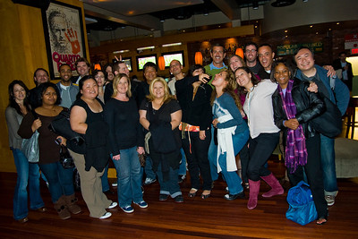 HOLLYWOOD, CALIFORNIA — Allied Hollywood (at least the Planning, Placement, Production, Creative, Business Development and Specialized Marketing teams) bowl, drink and eat at Hollywood & Highland's Lucky Strike. Photo taken Thursday, November 12th by Tom Sorensen/Moovieboy Pictures