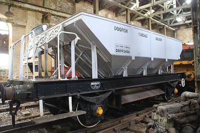 DB993406 24t Ballast Dogfish seen at Wolsingham on the Weardale Railway    24/06/12