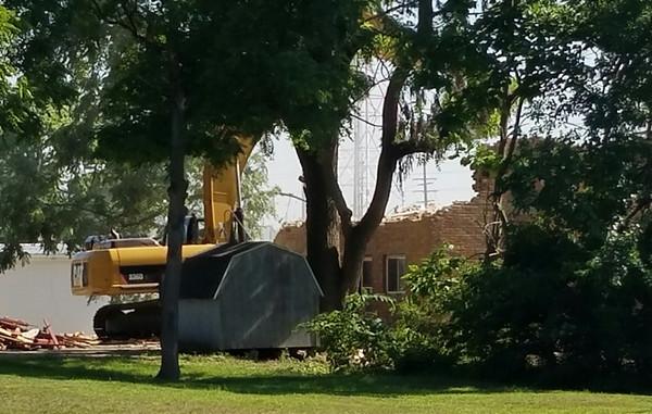 Alpha Sigma Phi demolition / photos by Judi Abney of  Trine University