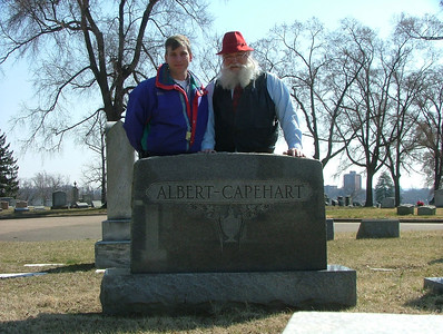 Two (living) generations of Albert Capeharts (Riverview cemetery)