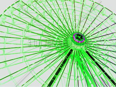 Ferris Wheel At Night- Altered