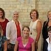 Valerie Jones (Volunteer Manager), Mary olk (Alumnae Development Chair), Sara Hillen Boevers (Student Recruitment Chair), Angela Krtnick Complin (Secretary Special Projects), Jennifer Schweich Barta (Alumnae Connections Chair), Megan Sand Carr (Resource Development Chair), Judy Zimmer (President)