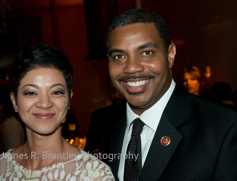 Sonya Horsford, Rep.Steven Horsford (D-NV).<br /> <br /> The Alvin Ailey American Dance Theatre opening night at the John F. Kennedy Center for the Performing Arts in Washington, DC includes a small pre-performance reception followed by a post-performance dinner, dancing, and dessert in the Center's Atrium on Tuesday, February 4, 2014.  (James R. Brantley)