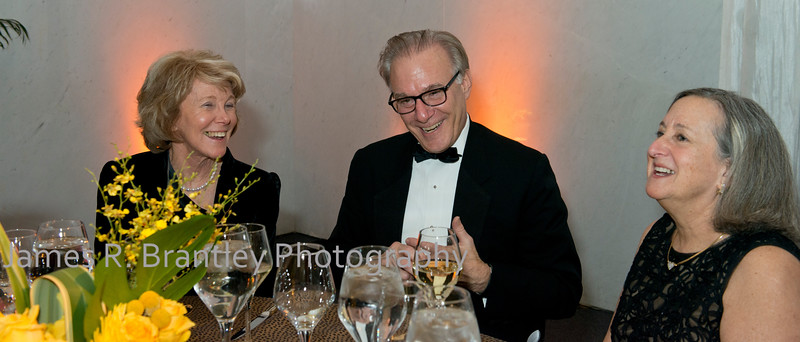 Carol Ludwig, Washington Post's David Ignatius, Judy Harris<br /> <br /> The Alvin Ailey American Dance Theatre opening night at the John F. Kennedy Center for the Performing Arts in Washington, DC includes a small pre-performance reception followed by a post-performance dinner, dancing, and dessert in the Center's Atrium on Tuesday, February 4, 2014.  (James R. Brantley)