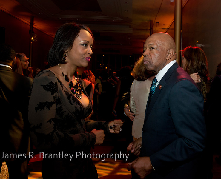 Dr. Maya Cummings, Rep. Elijah Cummings (D-MD)  The Alvin Ailey American Dance Theatre opening night at the John F. Kennedy Center for the Performing Arts in Washington, DC includes a small pre-performance reception followed by a post-performance dinner, dancing, and dessert in the Center's Atrium on Tuesday, February 4, 2014.  (James R. Brantley)