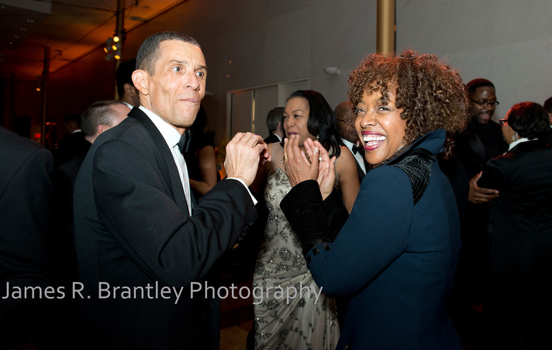 Eugene Adams, Gala Co-Chair Gina Adams<br /> <br /> The Alvin Ailey American Dance Theatre opening night at the John F. Kennedy Center for the Performing Arts in Washington, DC includes a small pre-performance reception followed by a post-performance dinner, dancing, and dessert in the Center's Atrium on Tuesday, February 4, 2014.  (James R. Brantley)