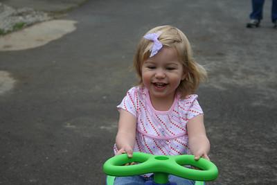 Alyssa Riding Her New Bike