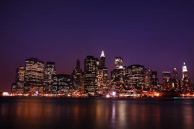 Lower Manhattan at Nightfall