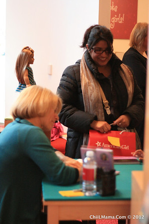 American Girl Doll 2012-McKenna Book Signing With Mary Cassanova in Chicago