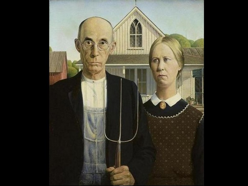 """American Gothic,"" Grant Wood (1930)."