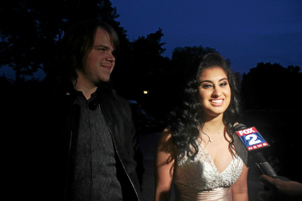 . Jena Irene Asciutto attends prom with �American Idol� winner Caleb Johnson. Erin Hampton - Special to The Oakland Press