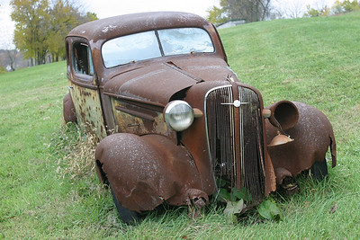 Rusted Car S.W. Pennsylvania, USA