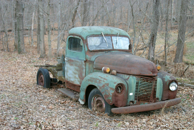 Green Rusted Truck