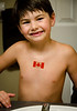 Jake with Canada flag tatoo