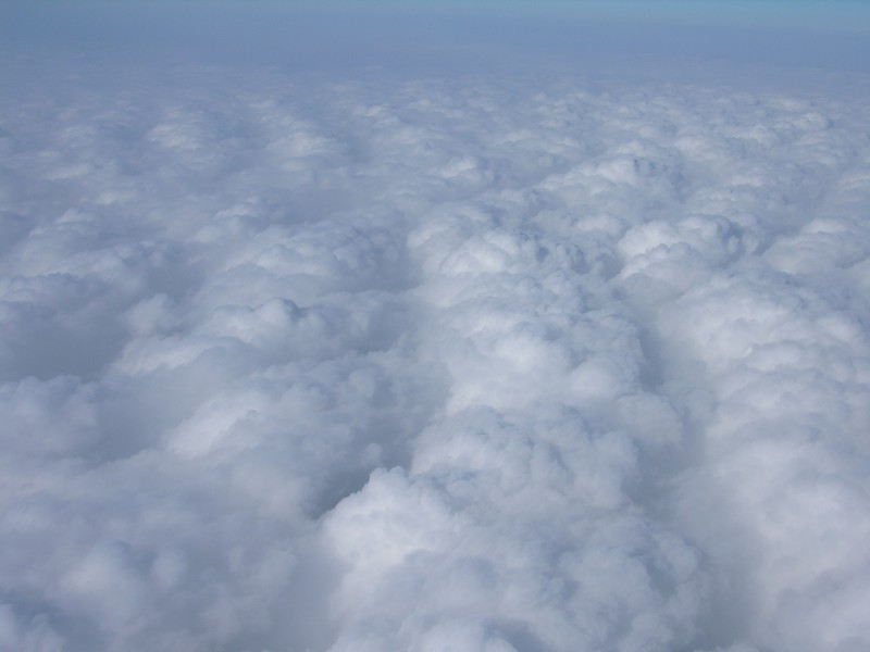 We the entire day, we flew above a layer of clouds.  Thank goodness for GPS!