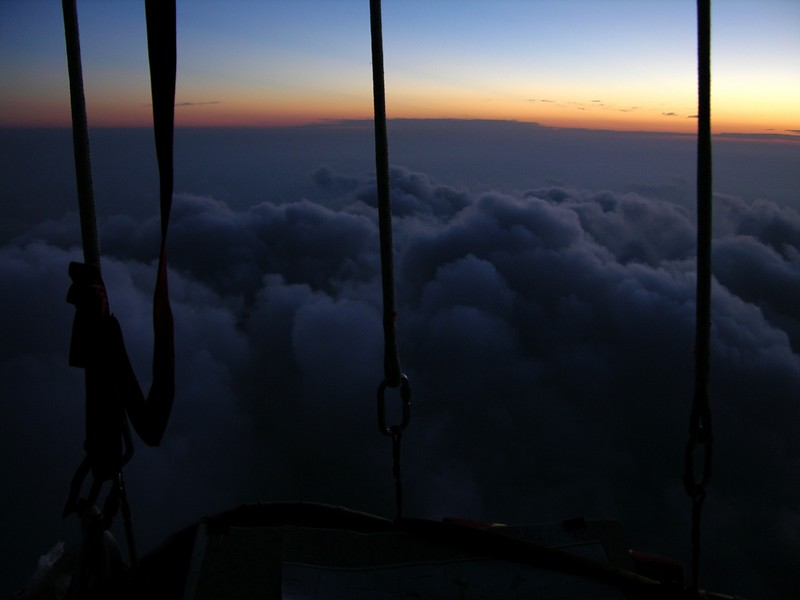 Above Minnesota, we welcomed the dawn on the second morning.