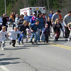 the kids running a 1/4 mile out and a 1/4 mile back