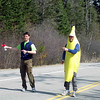 Banana man starting the kids' race