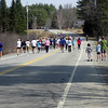 This is the ENTIRE adult race heading up the first mile which is ALL up hill