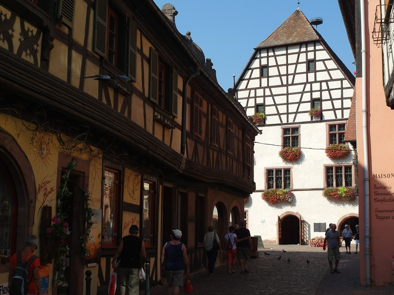 The cute Alsatian villages are a mecca for tourists.