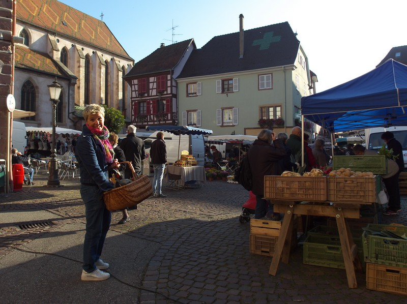 Shopping at the Saturday market.