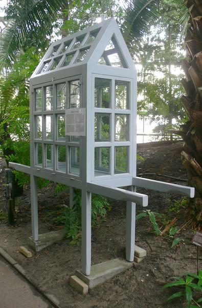 pflanzentransportbox, erfunden 1829 vom britischen botaniker nathaniel ward.