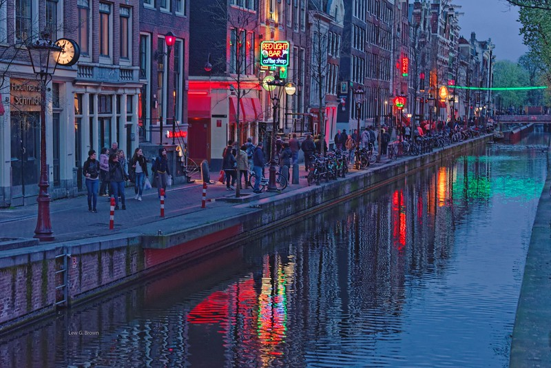 The famous Red Light District!