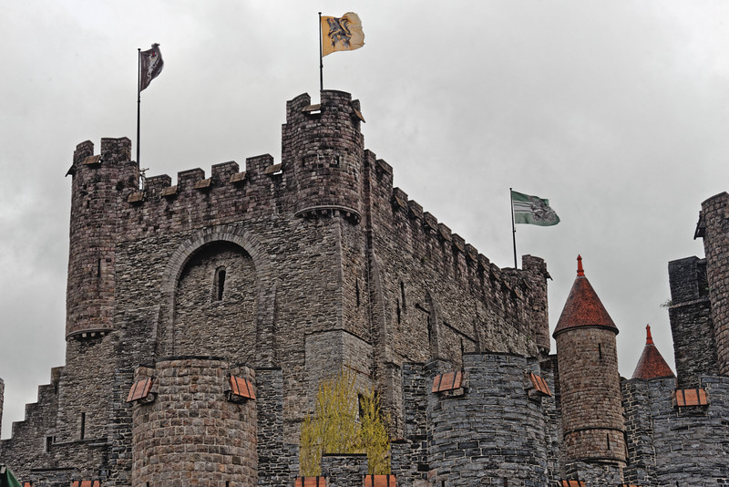 Gravensteen Castle dates from 1180 AD.