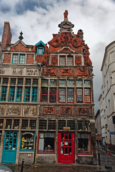 Colorful old buildings.