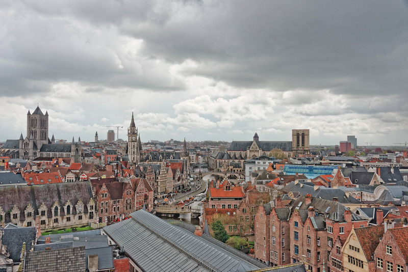 View of Ghent, Belgium, a town dating from the 14th Century.