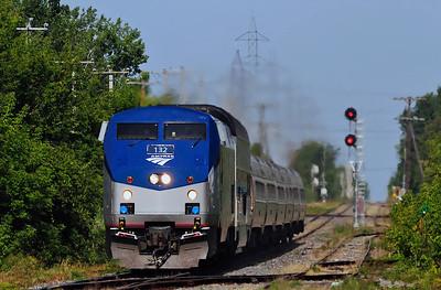 Amtrak Adirondack, St-Jean Qc August 18 2013
